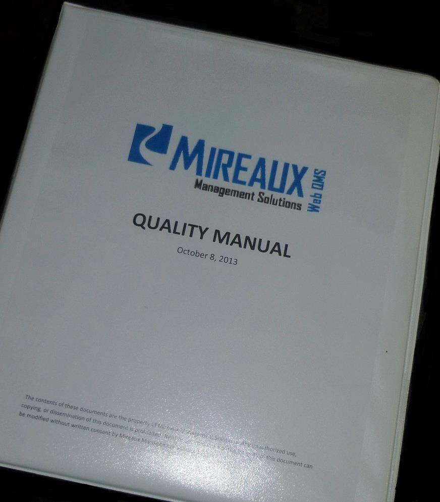 write an iso or api compliant quality manual mireaux rh mireauxms com Quality System Diagram Quality Award