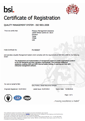 bsi certification registration