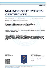 Mireaux ISO 12007 Certificate Image