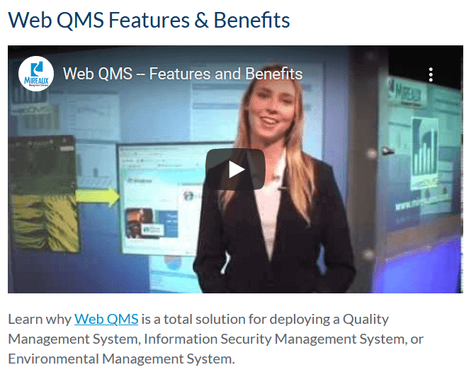 Web QMS Features and Benefits