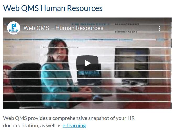 Web QMS Human Resources