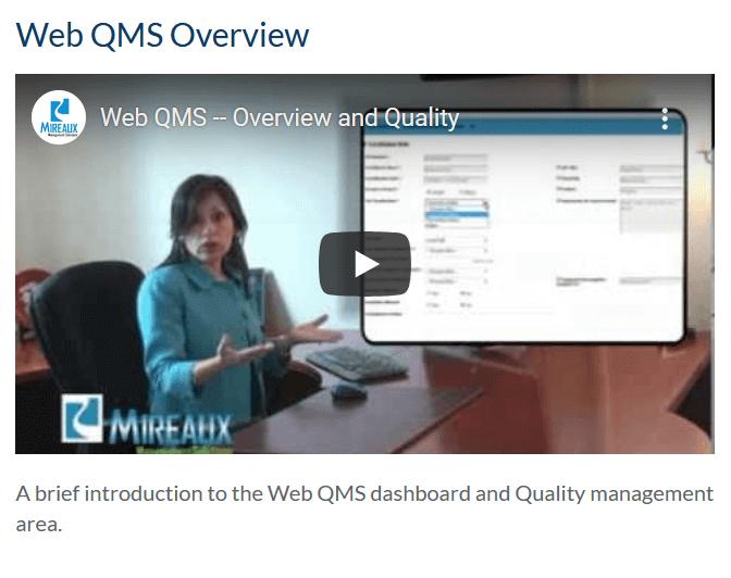 Web QMS Overview